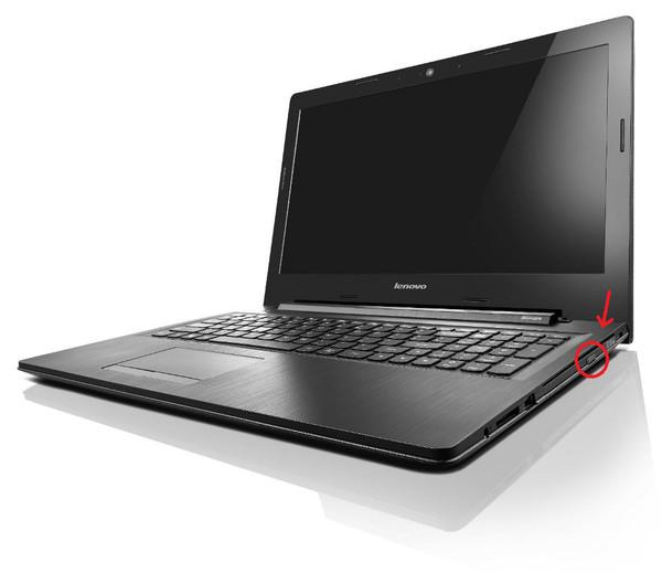 Кнопка открытия дисковода Lenovo