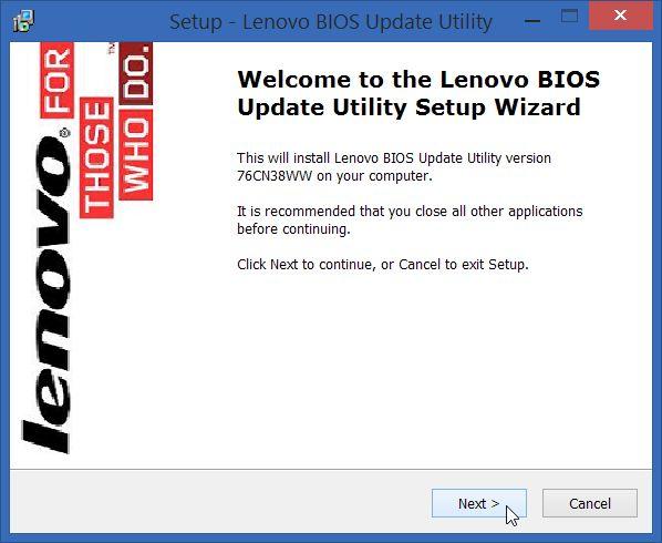 Lenovo Bios update